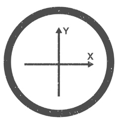 Coordinate axis icon rubber stamp vector