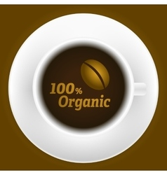 Cup of coffee with logo vector image vector image