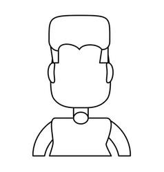 fat man cartoon vector image