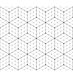 Geometric mesh seamless pattern vector