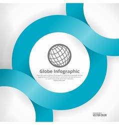 Globe Infographic Design vector image vector image
