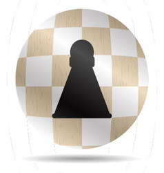 Icon chess pawn vector image