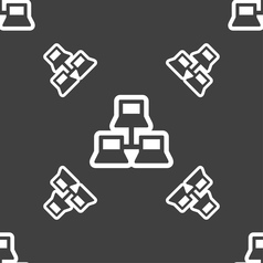 local area network icon sign Seamless pattern on a vector image vector image