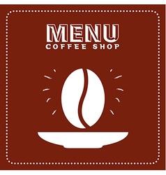 menu good coffee vector image