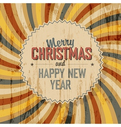 merry christmas background colorful rays vector image vector image