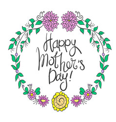 Mother day style greeting day vector