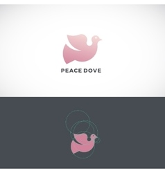 Peace Dove Abstract Logo Template Sign or vector image