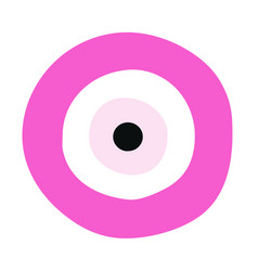pink evil eye - symbol of protection vector image vector image