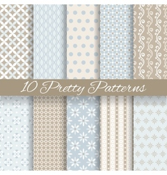 Pretty pastel seamless patterns tiling with swatch vector