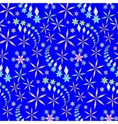 Seamless christmas pattern crystal light vector