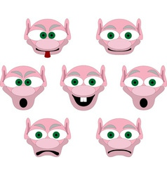 Set of smiliers of house brownie vector