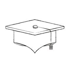 sketch blurred silhouette image graduation cap vector image vector image