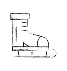 Sketch draw ice skate cartoon vector