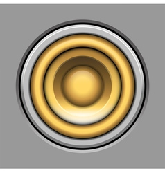 Sound-system speaker icon over gray vector