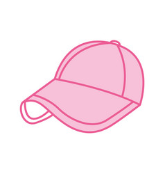 Sport cap pink accessory fashion vector