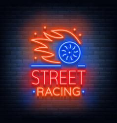 street racing logo emblem template logo in vector image