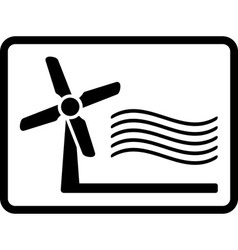 Wind mill icon vector