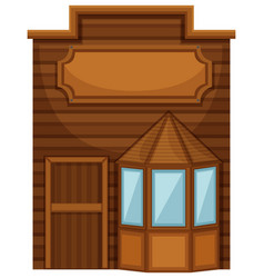wooden shop in wester design vector image