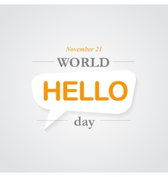 World hello day icon vector image vector image