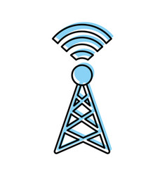 world signal antenna vector image vector image