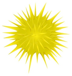 Yellow thorny ball on white vector