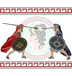 trojan war vector image