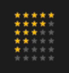 Rating stars in black background vector