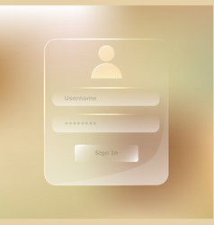 Transparent glassy member login transparent vector