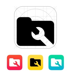 Repair folder icon vector