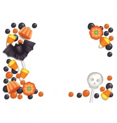 halloween candy postcard vector image