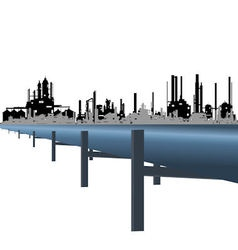 Oil pipeline vector image