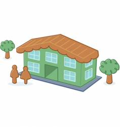 cute toy dolls house illustration vector image