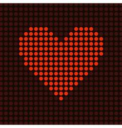 red light heart vector image