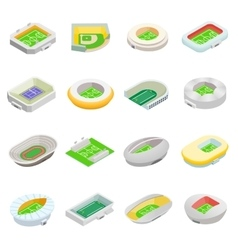 Stadium isometric 3d icons vector