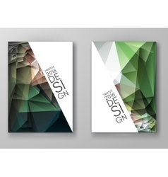 Brochure multicolored polygonal mosaic backgrounds vector