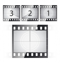 Film strip countdown vector