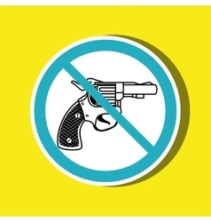 Weapons ban design vector