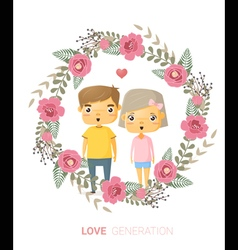 Love generation greeting card 2 vector