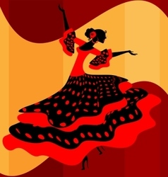 Spanish woman dancer vector