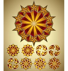 Stars symbols set vector