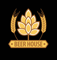 Beer house emblem template vector