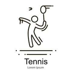 Big sport game icon one man tennis player outline vector image vector image