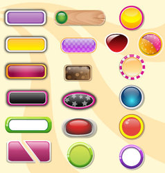 button set of colorful glossy vector image vector image