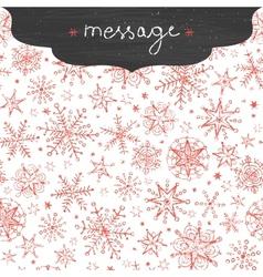 Chalkboard snowflakes frame border seamless vector