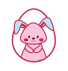 cute rabbit icon vector image vector image