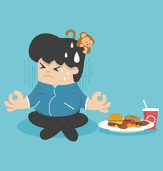 Dieting to lose weight vector image