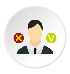 Dismissal of employees icon flat style vector