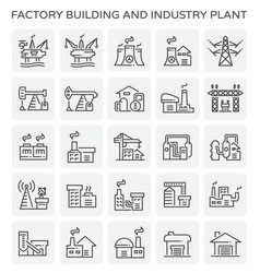 factory industry plant vector image vector image