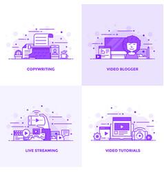flat line purple designed concepts 2 vector image