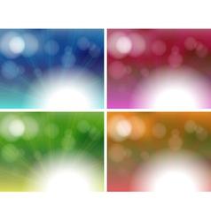 Four unique background templates vector image vector image